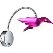 LED-Wandleuchte Vogel Pink - Pink, MODERN, Kunststoff/Metall (32/26cm)