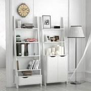 Regál Flo Bílá - bílá, Moderní, dřevěný materiál (65/176/34,2cm)