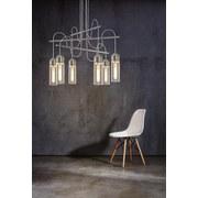 LED-hängeleuchte Zacharo - Klar/Nickelfarben, MODERN, Glas/Metall (70/150cm)