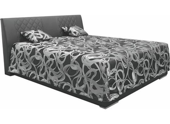 Čalouněná Postel Sima 2 180 - černá, Moderní, textilie (180/200cm)