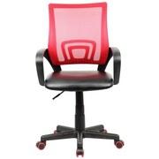 Jugenddrehstuhl Offal B: 55 cm Rot, Schwarz - Rot/Schwarz, Design, Kunststoff/Textil (55/98/54cm) - MID.YOU