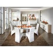 Ausziehbarer Esstisch Malvin 180cm Weiß Hochglanz - Weiß, MODERN, Holzwerkstoff (180/76/90cm)