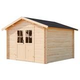 Gartenhaus Blockhaus Natur 280x235x280cm - Naturfarben, MODERN, Holz (280/235/280cm)