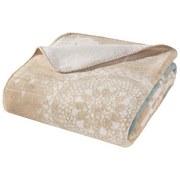 Wohndecke Jaquard - Creme/Weiß, MODERN, Textil (150/200cm)