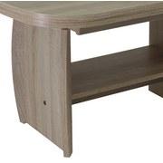Höhenverstellbarer Couchtisch Holz + Ablage Michael, Eiche - Sonoma Eiche, Basics, Holzwerkstoff (90 - 142/52 - 62/68cm)