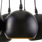 Závesná Lampa Emanuella - čierna/farby zlata, Moderný, kov (15cm) - MODERN LIVING