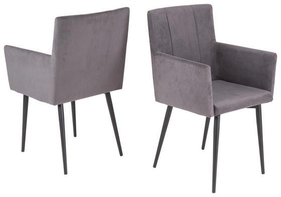 Jídelní Židle Monaco - šedá, Moderní (50/91/59cm)