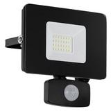 LED-Außenleuchte Faedo 3 Schwarz - Schwarz/Weiß, Basics, Glas/Metall (13cm)