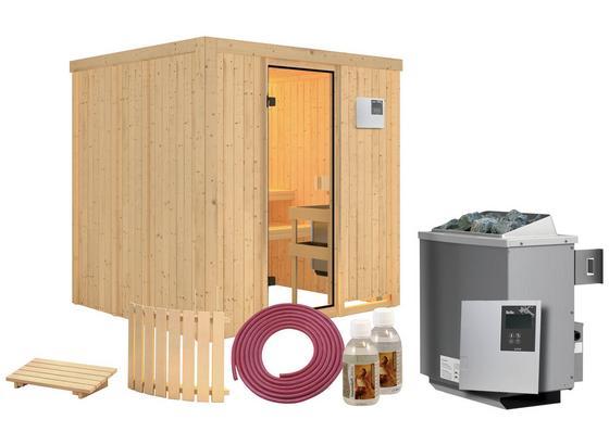 Sauna Cassis mit externer Steuerung - Naturfarben, MODERN, Holz (196/198/196cm) - Karibu