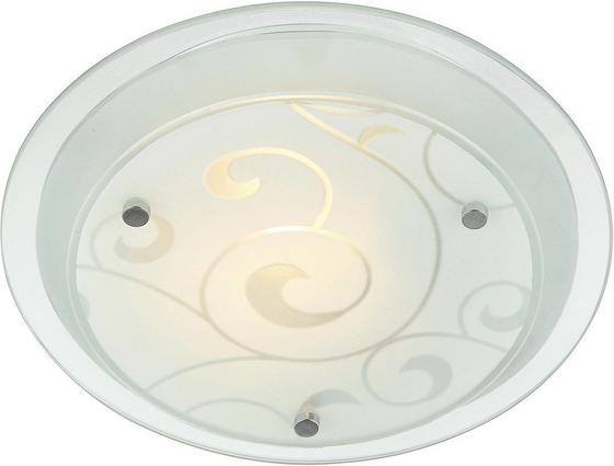 Mennyezeti Lámpa Susanne - Fehér, konvencionális, Üveg/Fém (25cm)