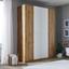 Kleiderschrank Unit 4 Türen, Breite ca. 182cm - Eichefarben, MODERN, Holzwerkstoff (182,2/242,2/58,3cm) - Ombra