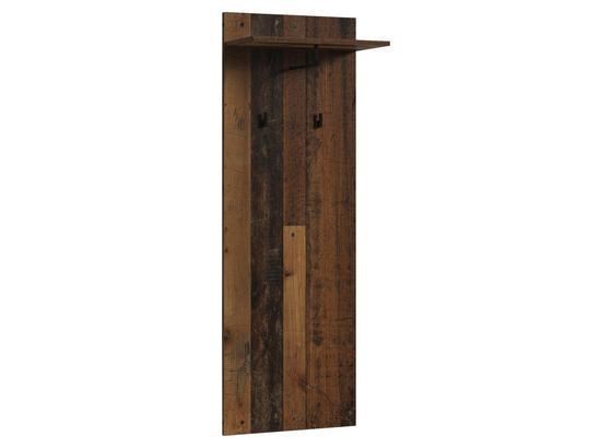 Garderobenpaneel Justus B: 48 cm Dunkelbraun - Dunkelbraun, MODERN, Holzwerkstoff (48/140/28cm) - Livetastic