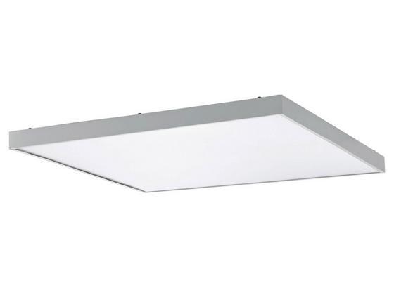 LED-Paneel Plagiarone B. 59,5 cm Weiß - Weiß, Basics, Kunststoff/Metall (59,5/59,5/4cm)