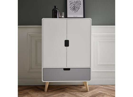 Komoda Daniela - sivá/biela, Moderný, drevo (70/105/38cm) - Modern Living