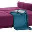 Bigsofa mit Bettfunktion und Bettkasten Modena Webstoff - Silberfarben/Lila, Natur, Textil (223/92/107cm) - Luca Bessoni