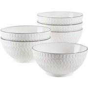 Schüsselset Telde 6-Tlg. Weiss - Weiß, Basics, Keramik (41,3/26,6/32,6cm)