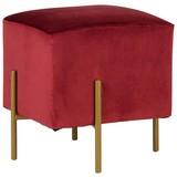 Taburet Juliette - červená, Lifestyle, kov/textilie (37/40/37cm) - Modern Living