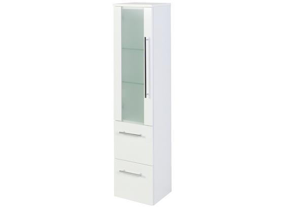 Midischrank Mailand 30 cm Weiß - Weiß, MODERN, Glas/Holzwerkstoff (30/128/27cm)
