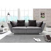 Sofa Modern - Chromfarben/Schwarz, MODERN, Textil (244/85/115cm)