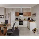Küchenleerblock Bozen 280x172cm Weiß/eiche - Eichefarben/Weiß, KONVENTIONELL, Holzwerkstoff (280/172cm)