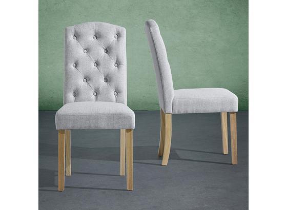 Stolička Rita - svetlosivá, Moderný, drevo/textil (47/99/62,5cm) - Mömax modern living