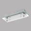 LED-Deckenleuchte Fres 2 - Chromfarben/Weiß, MODERN, Glas/Metall (25/8,5/6,5cm)