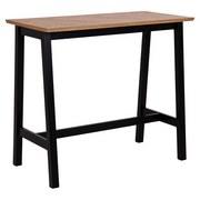 Esstisch Brighton B: 120 cm Eiche - Eichefarben/Schwarz, Basics, Holzwerkstoff (120/105/60cm)