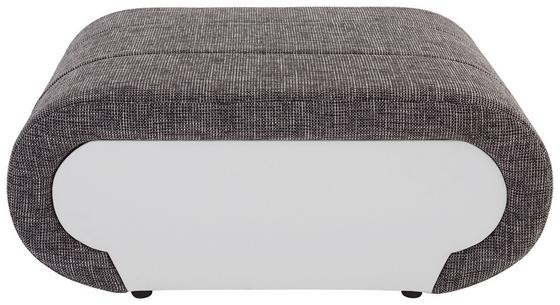Ülőke Carisma - Szürke/Fehér, modern, Fa/Fém (100/42/66cm) - OMBRA