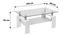 Konferenční Stolek Silvia - bílá/čiré, Moderní, kompozitní dřevo/sklo (100/45/60cm)