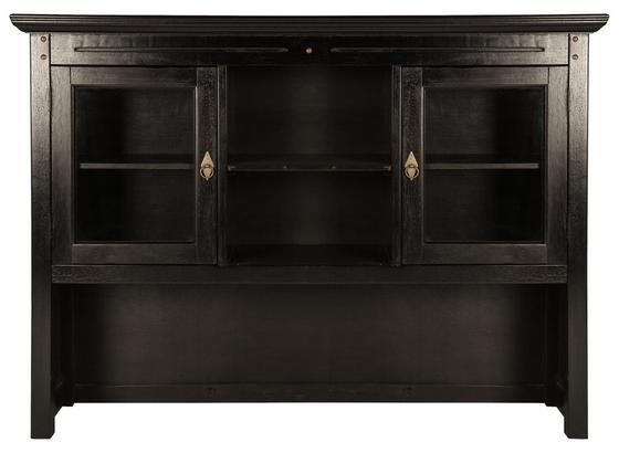 Aufsatzschrank B: 148 cm Dunkelbraun - Dunkelbraun, Basics, Holz (148/110/34cm)