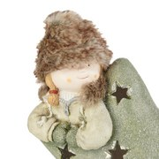 Dekofigur Kind Berta - Beige/Braun, KONVENTIONELL, Kunststoff (37,5/47/22,5cm) - Ombra