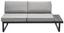 Záhradná Sedacia Súprava Gibby - čierna/svetlosivá, Moderný, umelá hmota/kov (228,50/228,5cm) - Modern Living