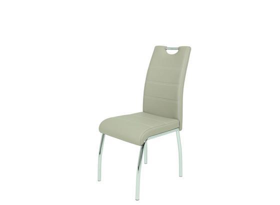 Stolička Susi - biela/béžová, Moderný, kov/plast (44/98/61cm)