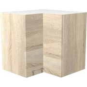 Eckoberschrank Samoa  He 60 - Eichefarben/Weiß, KONVENTIONELL, Holz/Holzwerkstoff (60/54/32cm)