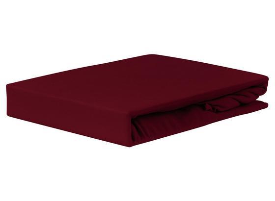 Spannleintuch Jardena 100x200 cm - Bordeaux, KONVENTIONELL, Textil (90-100/200cm) - Ombra