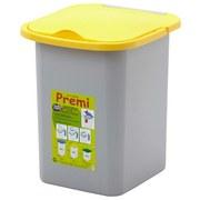 Abfalleimer Premi 18l - Gelb/Grau, Kunststoff (35/30/32cm)
