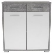 Komoda Q-big New Qbk02 - bílá/šedá, Moderní, dřevo (98/105/44cm)