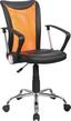 Otočná Židle Vanessa - oranžová/černá, Moderní, kov/textil (47/88,5-98,50/54cm)