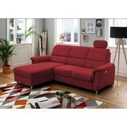 Wohnlandschaft in L-Form Parole Rot - Chromfarben/Rot, MODERN, Textil (165/231cm) - Livetastic