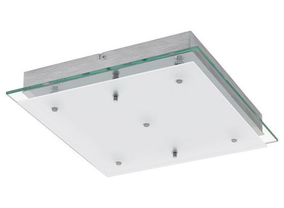 LED-Deckenleuchte Fres 2 - Chromfarben/Weiß, MODERN, Glas/Metall (38/38/7cm)