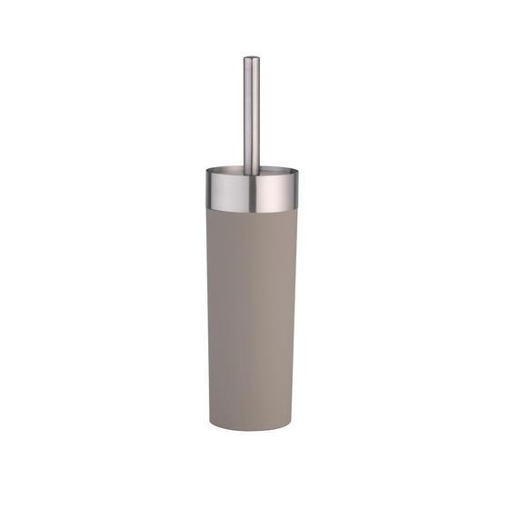 WC-Bürstengarnitur Lena - Taupe/Chromfarben, MODERN, Kunststoff/Metall (9/36,5cm)