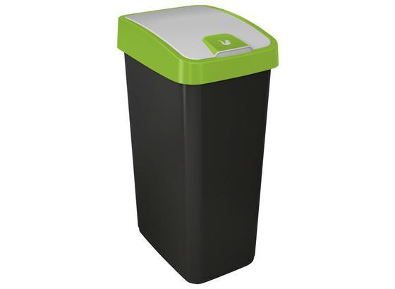 Abfalleimer Magne - Graphitfarben/Grün, Kunststoff (40/30/61,5cm)