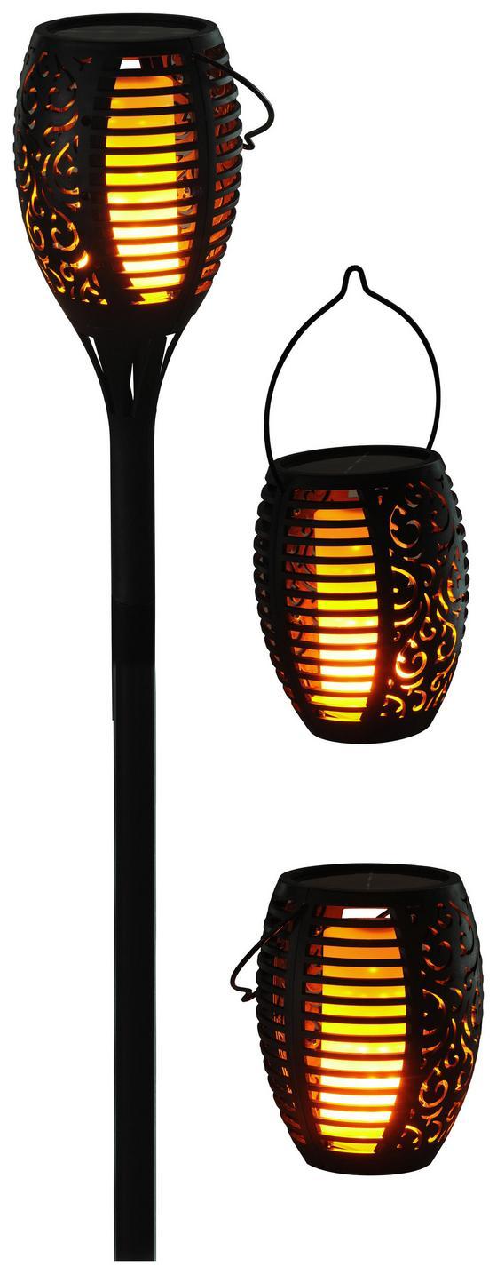 Solárne Svietidlo Zamora - čierna, umelá hmota/kov (12/90/cm) - Modern Living