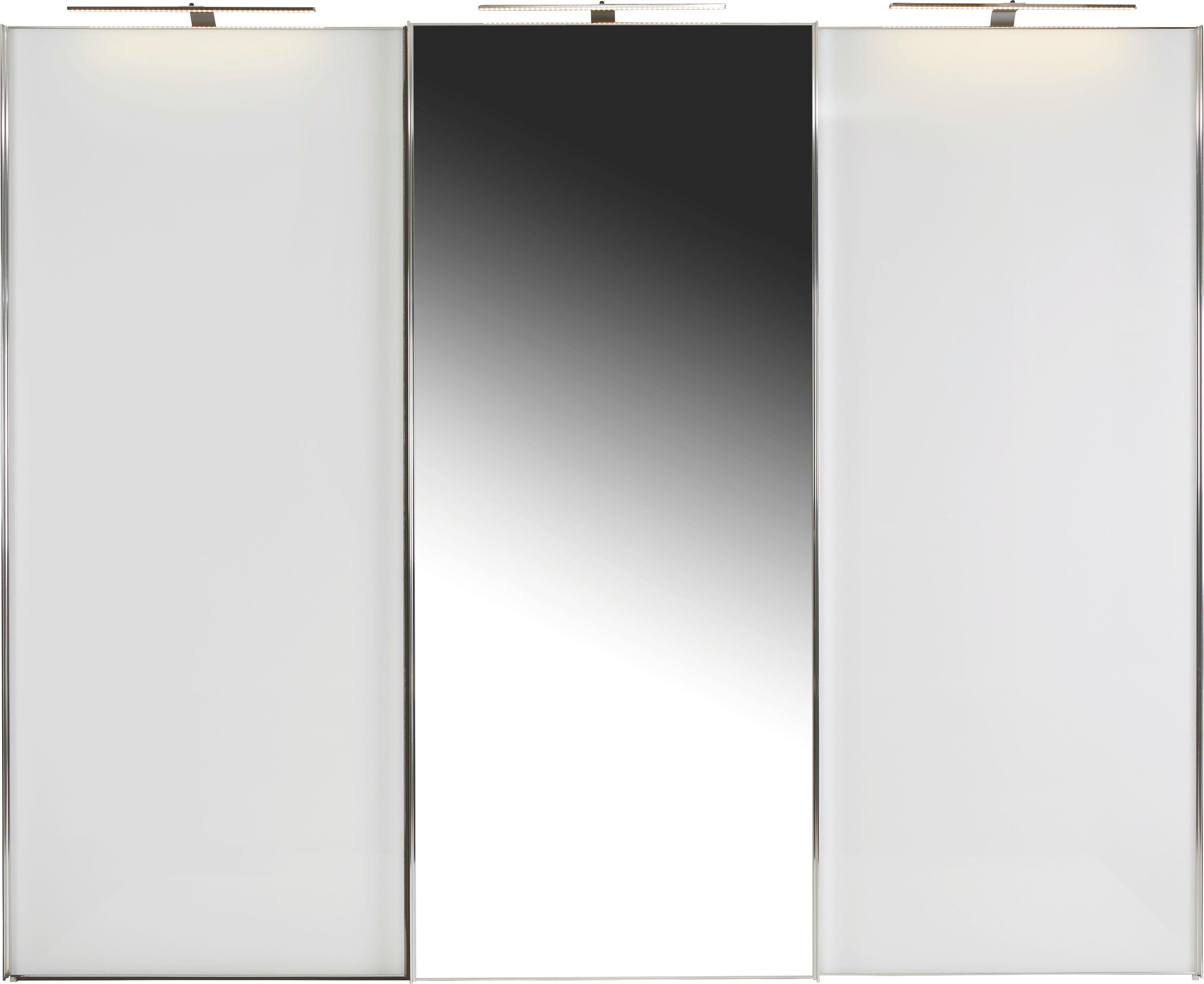 Schwebetürenschrank Sonate 249x240cm - Weiß, MODERN, Holz/Holzwerkstoff (249/240/68cm) - Luca Bessoni