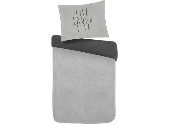 Povlečení Live/laugh/love Wende - šedá, Moderní, textil (140/200cm) - Mömax modern living