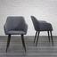 Jídelní Židle S Područkami Nicola Tm.šedá - tmavě hnědá/tmavě šedá, Moderní, kov/dřevo (58/82,5/61,5cm) - Mömax modern living