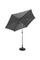 Sonnenschirm Riga - Dunkelgrau/Anthrazit, MODERN, Textil/Metall (270/245/cm) - Ombra