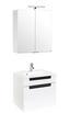 Badezimmer Siena 60cm Weiß/hglz Anthrazit - Anthrazit/Weiß, MODERN, Holzwerkstoff/Kunststoff (60/48cm)