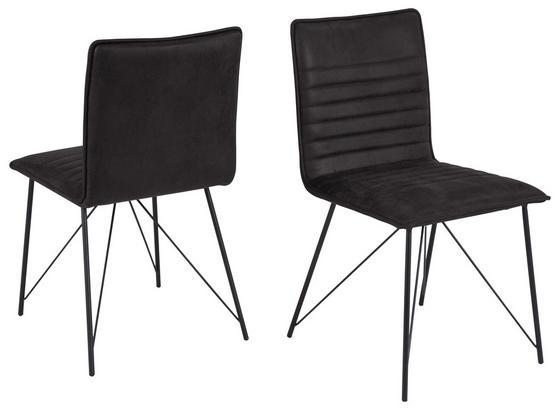 Stolička Mia - čierna/antracitová, Design, kov (45/83/57cm)