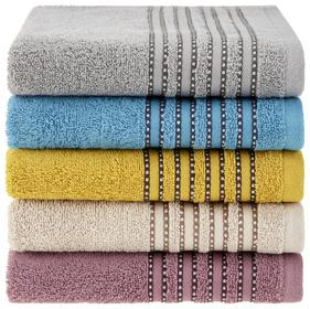 Handtuch in Grau mit hübscher Bordüre
